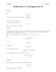 MTHE 237 Fall 2014 Assignment 6 Solutions