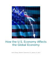 How The American Economy Impacts The Global Economy.docx