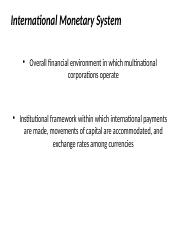 1 International Monetary System.pptx