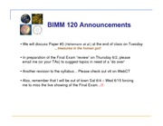 BIMM 120 Lecture17.FinishMetagenomics.052611