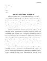 Sinners In The Hands Of An Angry God Analysis Essay.docx
