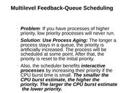 Multilevel Feedback-Queue Scheduling