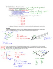 08 - 2D particle kinetics - Newton's 2nd law