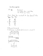 Mech251Statics_TheBeamequation notes