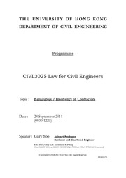HKU_CIVL3025_Law_for_Civil_Engineers_Handout-24_09_2011