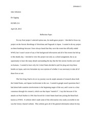 Final project Reflection Paper
