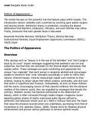 Politics of Appearance - - Research Paper Starter - eNotes.pdf