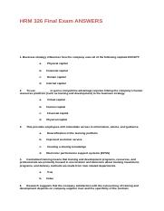 HRM 326 Final Exam Answers.docx