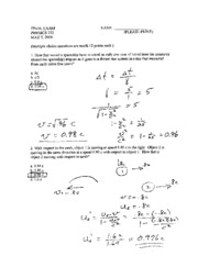 Solutions Final Exam SPR 06B
