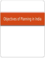 Objectives of Planning in India.ppt