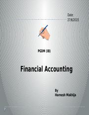Revised Accounting