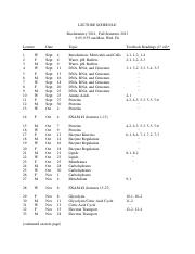 Lecture Schedule-1st ed