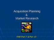 Acq Planning & Market Research
