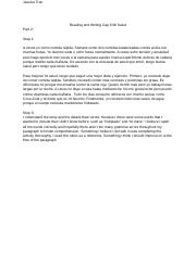 Reading and Writing Cap 9 Mi Salud.docx
