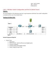 L3 - Ch8 Basic Switch Configuration and CLI (Packet Tracer).docx