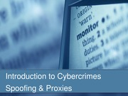 Intro to Cybercrimes (Spoofing & Proxies)