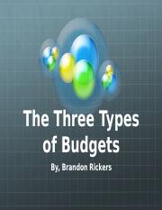 Three types of budgets presentation