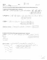 Math Test 2 answer KEY 2015