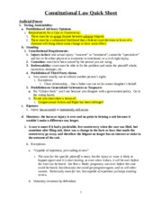 Con Law Exam Quick Sheet