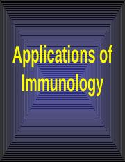 Applications of immunology