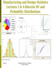 Statistics Lecture 3 and 4-Discrete RV and Distributions (March 2014) web ct (2)(1).ppt