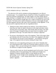 article evaluation instructions-s2011