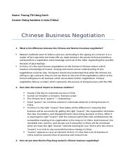 Chinese Business Negotiation.docx