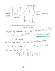 CHEM 1000 Catalyst and Potential Energy Notes