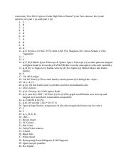 ASTRONOMY STATES TEST ANSWER KEY