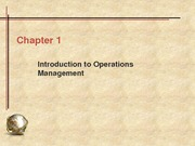 IDS 355 - CHAPTER 1 Introduction to Operations Management - Class Notes