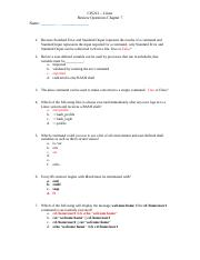 Review Questions Chapter 7