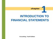 Lecture 1: Introduction to Financial Statements