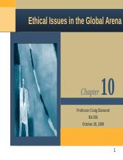 Mbl926 more Ethical Issues in the Global Arena.ppt