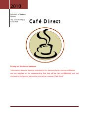 Old Business Plan 3 - Cafe Direct
