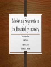 WEEK 3 Marketing Segments in the Hospitality Industry