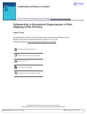 Followership in Educational Organizations A Pilot Mapping of the Territory.pdf
