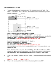 ARC322 Homework 5 2008 SOLUTION(2)