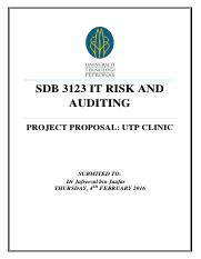 REPORT docx - SDB 3123 IT RISK AND AUDITING GROUP PROJECT 2016 E