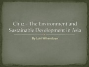 Ch 12 - The Environment and Sustainable Development