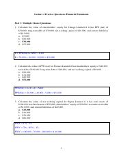 49098 AFM Lecture 02 Practice Questions Solutions