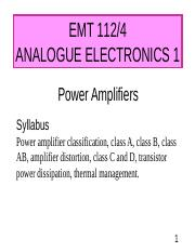 POWER AMP - CLASS-AB.PPT