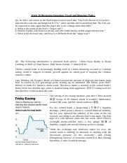 Week 10 Discussion Questions - Monetary Policy and Fiscal Policy.docx