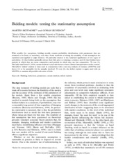 Bidding models_ testing the stationarity assumption