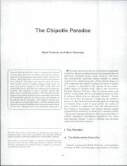 The Chipotle Paradox