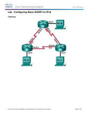 CCNA 3 Lab 7.4.3.5 Configuring Basic EIGRP for IPv6