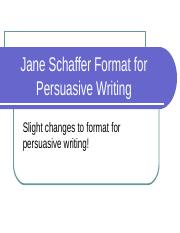 jane_schaffer_format_for_persuasive_writing.ppt