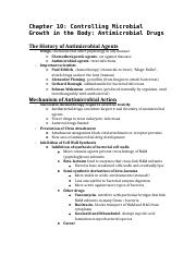 Chapter 10- Controlling Microbial Growth in the Body- Antimicrobial Drugs.docx