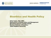 Lec 2_Bioethics and Health Policy