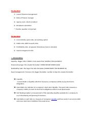 Business Finance UT 1 Key Point.doc