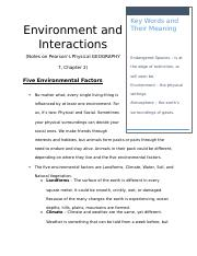 Environment and Interactions - Five Environmental Factors.docx